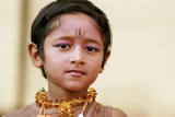 little boy from a tamil dance group