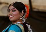 Bharatanatyam dancer (indian temple dance)