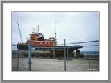 Drydocked Tug at Green Bay