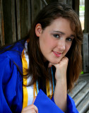 SARAH IN CAP AND GOWN