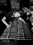 Dorothy Stuart making final inspection of Bren gun Flare guards at John Inglis Co. plant.jpg