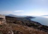 View from Lekuresi Castle toward Butrint