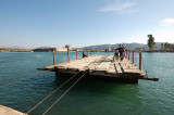 The crossing at Butrint - return journey heading back to the border with Greece