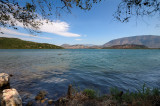 View across the lake at Butrint