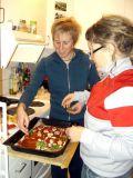 Karin, Cia and old skool pizza
