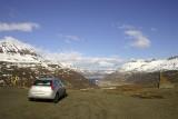 View of Seyðisfjörður town in its bay