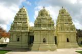 The Kopurams in the Meenakshi Temple in Pearland, Houston