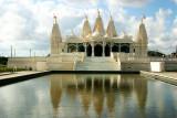 Reflections of the Swaminarayan temple, Houston