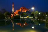 The historic glow at dusk, Hagia Sophia, Istanbul