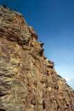 The steep rock face from Bright Angel Trail, Grand Canyon National Park