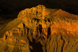 Sunset lights up the canyon, Grand Canyon National Park