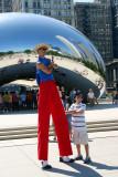 Stilt standing, Cloud Gate, Chicago