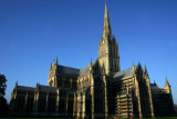 Early morning view of the Salisbury Cathedral, England