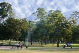 Barbeque in Hermann Park, Houston