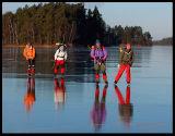 Perfect skating !! Lake Helgasjön Sweden 2002