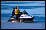 Snow Mobile driving - Cambridge Bay Canada 2000