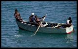 Local ferry!  Boys in Mindelo harbour - Sao Vicente, Cap Verde 2004