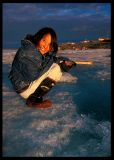 Midnight fishing - Cambridge Bay Canada june 2000