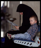 Waiting at the airport - Trabzon Turkey 2002
