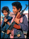 Heavy armed boys - Yemen 1997