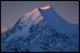 Sunset on Mt Cook - New Zealand 1997