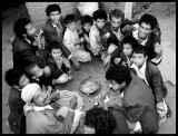 It`s a mans world !! - Men eating together in Yemen 1997 (Salta or Fahse?)