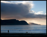 Evening walk with the dog - Keel Ireland 2005