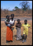 Mother and children near Tendaba