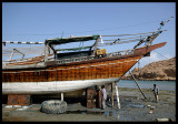 Dhow shipyard in Sur