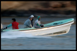 Fishermen with speedboat