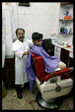 Taking a haircut - Muscat