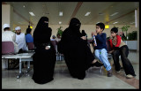 Mothers with children at Muscat airport
