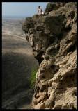 Martin rockclimbing near Wadi Darbat