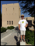 Martin at the desert hotel in Qatbit