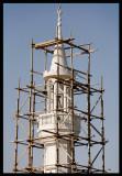 Repairing mosque tower