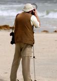 Jan-Michael Breider taking a shot at Slender-billed Gulls (Photo Johan Sandstrom)