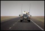 American patrol Hummer near western border to Iraq (Saddams invasion route 1991)