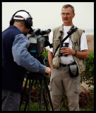 Per Forsberg giving an interview and telling about birdwatching in the Gulfstates