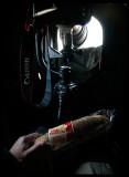 Evening sandwich inside Great Snipe hide - Norway 2007
