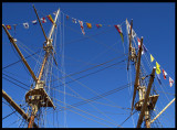 Flags on Tall Ship - Halmstad Sweden