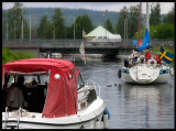 Waiting for bridge to open into Gota Canal - Karlsborg Sweden 2004