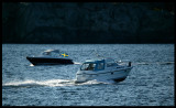 Nimbus boats (33 Nova & 28 DC) outside Marstrand - Sweden 2004