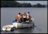 Bjorn Nilsson and relatives in his boat on lake Asa - Sweden 2004