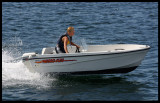 Young boy in his speed boat - Marstrand Sweden 2002