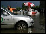 Need boat not Taxi ! Växjö after heavy rain 2003