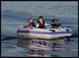 Madelene and Martin on Lake Helgasjön 2003
