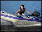 Martin and his speedboat at lake Helgasjön Växjö 2005