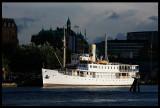 Steamboat in Gothenburg harbour