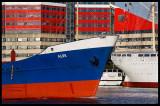Colours in Gothenburg harbour