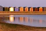 Beach Huts reflection